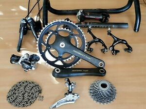 2000's CAMPAGNOLO Record 10s Titanium complete group - 14 pieces groupset !