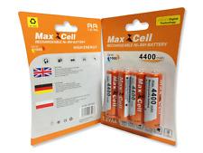 4 x Aufladbare Batterien Akku Accu Batterie MaxCell 4400 mAh AA R06 1.2V Mignon