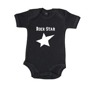 """Baby Body Kurzarm bedruckt Spruch """"Rockstar"""" Babybugz 100% Baumwolle"""