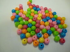 Colourful Acrylic Round Beads 8mm x 200 units  BARGAIN PRICE (X 2 BAGS)