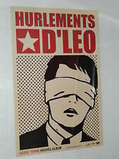 HURLEMENTS D'LEO  - Affiche Originale / Original Promo Label Poster - 40 x 60