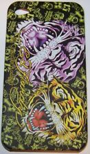 """Coque Qualité Ed Hardy """" DOUBLE TETES TIGRES"""" i Phone 4"""