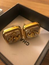 Vintage Chanel CC Earrings Authentic Unused Clip On