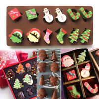 Christmas Silicone Cake Decorating Moulds Candy Cookies Chocolate Baking Mold