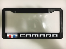 CAMARO CHEVY ZL1 LS LT SS RACING SPORTS CAR Black License Plate Frame NEW
