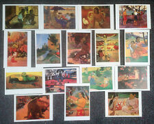 LOT OF 16 POSTCARDS OF PAINTINGS BY PAUL GAUGUIN