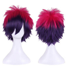 NO GAME NO LIFE Sora Short Red Mixed Purple Anime Cosplay Hair Wig Anime Wig