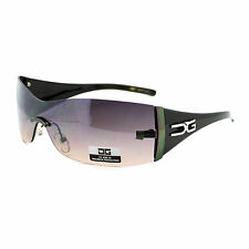 CG Eyewear Fashion Sunglasses Womens Rimless Rectangular Shield Frame Black