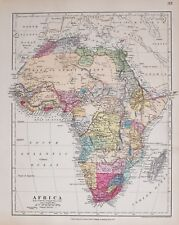STANFORD'S 1889 HAND COLOURED MAP AFRICA CAPE COLONY MOZAMBIQUE ABYSSINIA