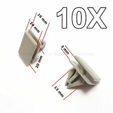 10x FOR GM ROCKER PANEL MOULDING CLIP RETAINER 25693852 GREY NEW