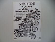 advertising Pubblicità 1978 MOTO MORINI 125 250 350 500