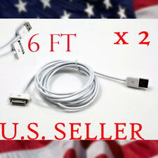 2 USB SYNC CHARGER CABLE CONNECTOR IPHONE 4 3GS 3G IPAD