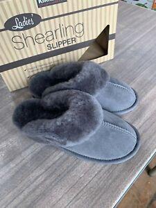 NEW Kirkland Signature Women's Slippers Gray Shearling Indoor Outdoor Pick Size
