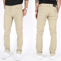 Nudie Herren Slim Fit Cord Jeans Hose | Grim Tim Organic Sand Cord | Beige