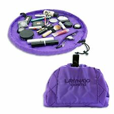 LAY-N-GO COSMO Purple Makeup Bag Travel Convenient MAC Lancome Covergirl