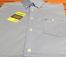 Wrangler Western Long Sleeve  Shirt Large Advance Comfort Macs30b New