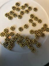 50. 5mm Gold Daisy Spacer Bali Style Pewter Beads L@@K SALE #1