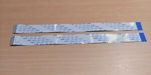 2 PACK - 200mm 30 pin 0.5mm Pitch FFC FPC Ribbon Cable REVERSE AWM 20624 80C 60V