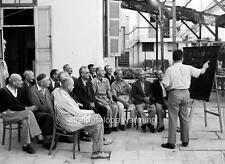 Photo. 1940-1. Tel Aviv, Palestine. Recent Immigrants Learning Hebrew