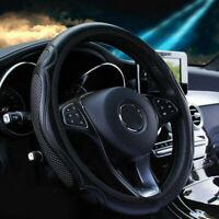 "15"" inch Universal PU Leather Car Steering Wheel Cover Anti-slip Protector Black"