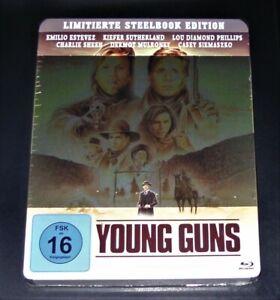 YOUNG GUNS MIT EMILIO ESTEVEZ / CHARLIE SHEEN BLU RAY LIMITIERTE STEELBOOK NEU