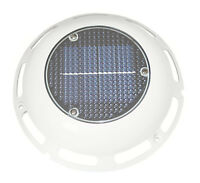 Solar Vent White Plastic With Switch & Re- Charging Battery Boat Caravan Camper