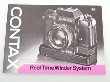 CONTAX Real Time Winder Bedienungsanleitung instruction booklet deutsch english