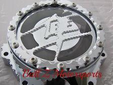 99-17 Hayabusa Chrome Ball Cut Edges Metal Logo Clear See Through Stator Cover!