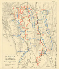 Capture of Rangoon Apr-May 1945. Burma Campaign. Irrawaddy. WW2 1965 old map