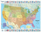 U.S.A Political - Michelin rolled & tubed wall map Paper: Wall Map (Michelin