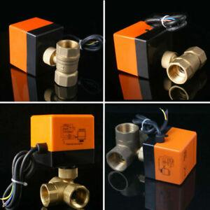2/3 Wege Ventil Zonenventil Elektrisch Kugelventil 1 Zoll Motorkugelhahn 230V DE