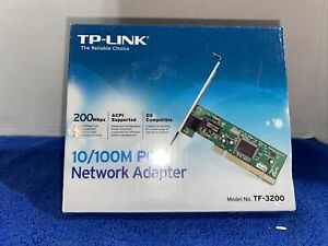 (2) TP-Link 10/100M PCI Network Adapter TF-3200 Version 1.2 New Sealed 200 MBPS