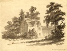 Francis Jukes, House amongst Trees – Original early 19th-century aquatint print