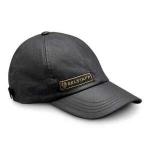 Belstaff Cal Waxed Cotton Cap - Black