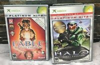 Halo: Combat Evolved (Xbox, 2004) Best Of Platinum Hits + Fable Lost Chapters