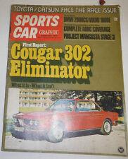 Sports Car Magazine Cougar 302 Eliminator February 1970 090414R