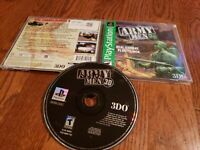 Army Men 3D PS1(Sony PlayStation Ps1  1 2 3, 1999) Complete Game