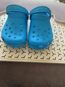 Blue Childs Crocs Size 10-11
