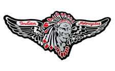 INDIAN MOTORCYCLE LARGE BACK PATCH Iron/Sew On FAST FREE SHIPPING! RED 12 IN