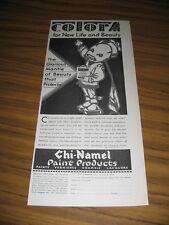 1930 Print Ad Chi-Namel Paint Products Ohio Varnish Co Cleveland