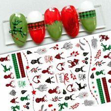 Nail Art Stickers Decals Christmas Mistletoe Reindeer Berries Holly Fern (F800)