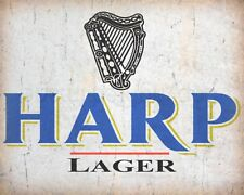 """10 x 8"""" HARP LAGER BEER PUB BAR MAN CAVE METAL PLAQUE TIN SIGN OTHERS LISTED 626"""