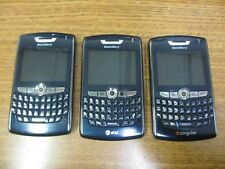 "Lot of 3 BlackBerry 8800 - Dark Blue (At&T Cingular) ""As Is"""