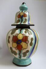 Gouda -Plateel Deckel Vase Keramik  Holland Dekor Vermeer