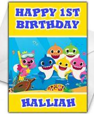 BABY SHARK Birthday Card - Personalised - Baby Shark Birthday Card