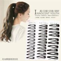 Fashion Womens Hair Slide Clips Snap Barrette Hairpin Pins Hair Accessories Jian