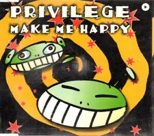 PRIVILEGE MAKE ME HAPPY CD Single Techno HOUSE DANCE BIT MUSIC VALE MUSIC