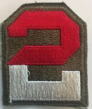 2nd US Army original 1940s fully embroidered Patch