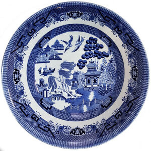 Churchill China Blue Willow Mint 24cm/9 Inch Salad Bowl NEW