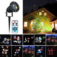 Outdoor Christmas LED Lights Moving Laser Projector Landscape Garden Xmas Lamp